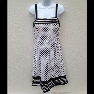R&K Originals Black and White Polka Dot Dress